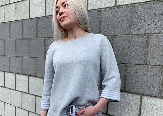Mode Damen Modern 3Pullover_A